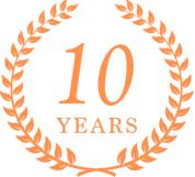 10YEARSのロゴ